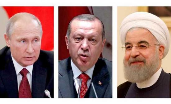 بوتين وأردوغان وروحاني يبحثون اليوم الوضع في سوريا عقب الانسحاب الأمريكي