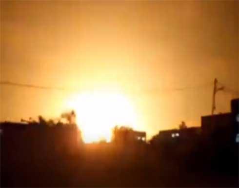 شاهد: اللقطات الأولى لقصف الإحتلال على موقع للفصائل الفلسطينية في غزة