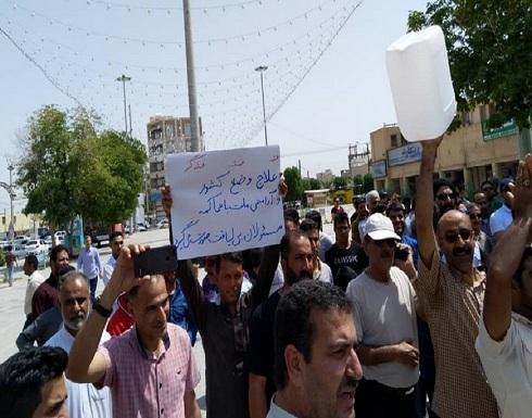 احتجاجات في مدينة المحمرة الأحوازية وشعارات ضد الحكومة الإيرانية (فيديو)