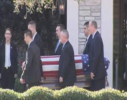 شاهد : جنازة جورج بوش الاب