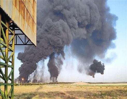 الكشف عن سبب اندلاع الحريق في مصفاة نفط إيرانية .. بالفيديو