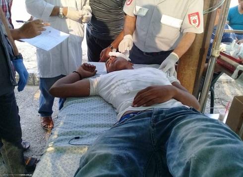49 إصابة باعتداء قوات الاحتلال على المتظاهرين شرقي غزة