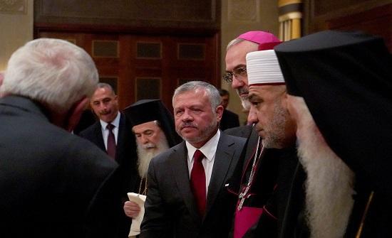 الملك يستقبل رؤساء الكنائس في الأردن والقدس وشخصيات مسيحية أردنية