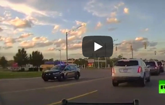 """الشرطة الأمريكية تطارد سيارة إسعاف """" فيديو  """""""