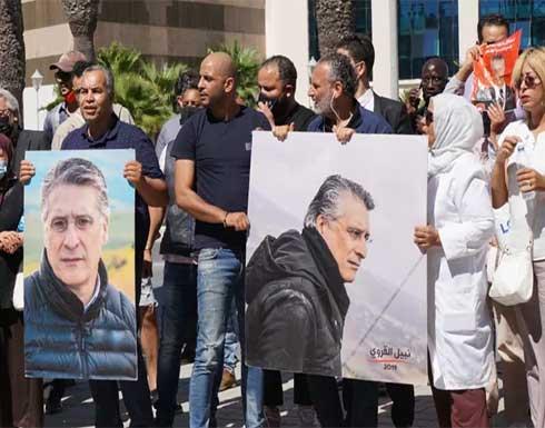 رئيس حزب قلب تونس يعتصم بمقر قضائي ويرفض الرجوع إلى السجن