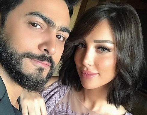 مش هيتجوزك.. شاهدوا اشتعال الخلاف بين بسمة بوسيل زوجة تامر حسني وزينة