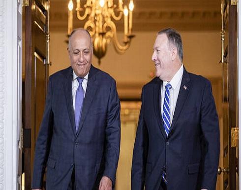 شكري وبومبيو يبحثان جهود مصر والولايات المتحدة في مكافحة وباء كورونا
