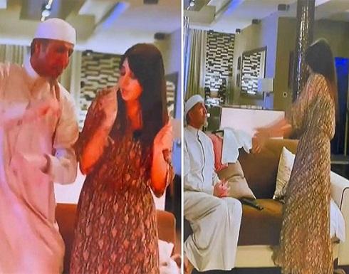 """شاهد.. وصلة رقص للفنان فايز المالكي وأسيل عمران في """"ممنوع التجول"""""""