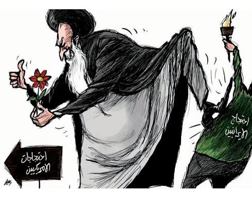 الاحتجاجات الامريكية و الايرانية