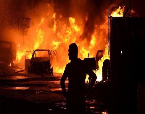 شاهد : إصابة 5 بانفجار عبوة ناسفة داخل حافلة نقل ركاب في بغداد