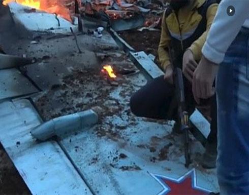 """صحيفة روسية: الطيار الذي سقط بإدلب """"فجر نفسه"""" (شاهد)"""