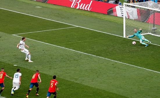 الشوط الأول.. روسيا تدرك التعادل أمام إسبانيا (شاهد)