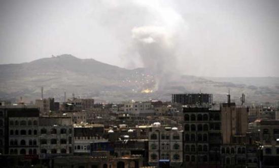 غارات جوية تستهدف مواقع يسيطر عليها الحوثيون في العاصمة اليمنية