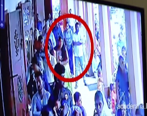 شاهد:  الانتحاري يظهر بين الجموع ويفجر الكنيسة بسريلانكا