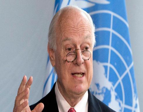 دي ميستورا: العملية الدستورية ستسرع وتيرة إعمار سوريا