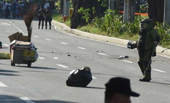 العثور على قنبلة يدوية الصنع قرب السفارة الأمريكية في الفيليبين