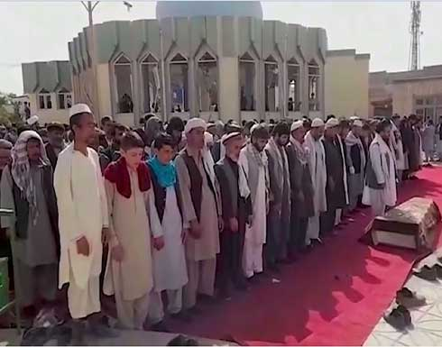 شاهد : تشييع ضحايا تفجير المسجد الشيعي في قندوز الأفغانية