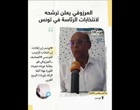 شاهد : المرزوقي يعلن ترشحه لانتخابات الرئاسة في تونس