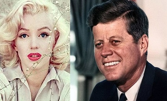 أجهضت قبل وفاتها واخبارها اسرار دولة في لحظات حميمة..علاقة مارلين مونرو بـ الرئيس الأمريكي جون كينيدي بالصور