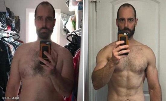 في أقل من عام.. رجل يخسر 40 كيلو من وزنه بهذا النظام الغذائي