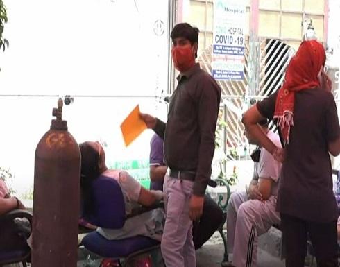 شاهد : طوابير من المرضى في الهند للحصول على أقنعة الأكسجين