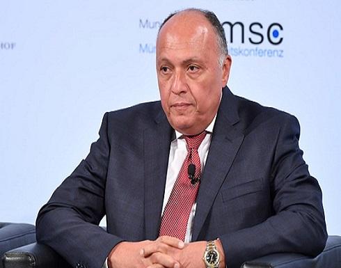 شكري عن علاقة مصر مع تركيا: هناك تقدم نأمل البناء عليه