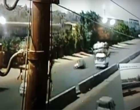 لحظة وقوع حادث قطار طوخ في مصر .. بالفيديو