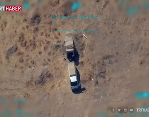 """الدفاع التركية تبث فيديو لتدمير مخزن سلاح لـ""""قسد"""" (شاهد)"""