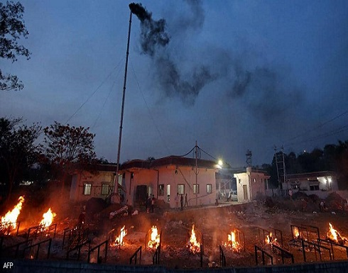 محارق الجثث في الهند تعاني من ضغط زيادة وفيات كورونا