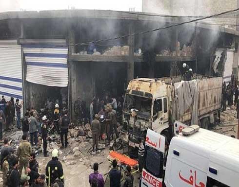 شاهد : قتلى وجرحى بانفجار ضخم في ريف حلب السورية