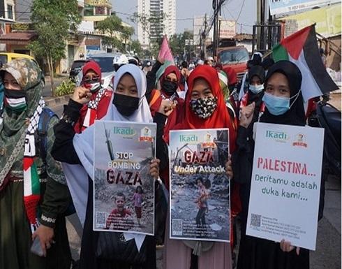 تواصل المظاهرات حول العالم رفضا للعدوان على غزة (شاهد)