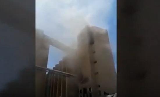 بالفيديو: استعموا إلى صراخ المصابين في انفجار صوامع العقبة بعد احتراقهم