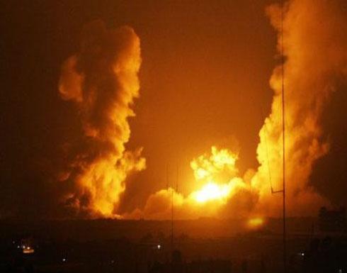 طائرات الاحتلال تقصف هدفا على حدود غزة