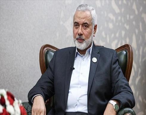 هنية يبحث عدوان غزة مع رئيس اللجنة الدولية للصليب الأحمر