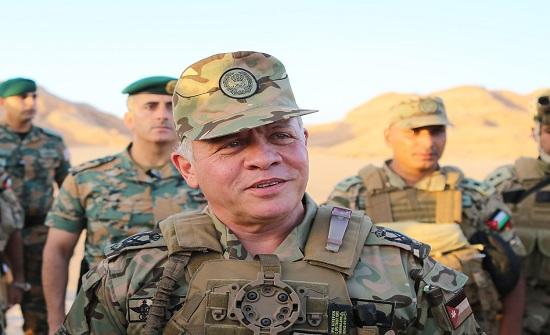الملك عبدالله يشارك نشامى المنطقة العسكرية الجنوبية مأدبة الإفطار