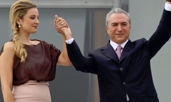 بعد توليه منصبه . . . ابتزاز زوجة رئيس البرازيل المؤقت اللبناني
