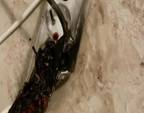نجاة إعلامية مصرية من حريق كاد يودي بحياتها (فيديو)