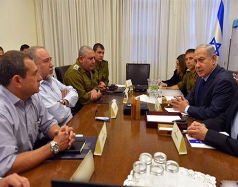 نتنياهو يعقد جلسة مشاورات امنية حول صواريخ غزة