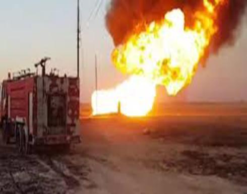 شاهد : انفجار في خط غاز أساسي يقطع التيار الكهربائي في سوريا