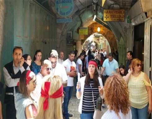 قوات الاحتلال تعتدي على المسيحيين الفلسطينيين بالقدس المحتلة