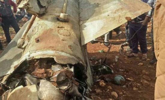 الاجهزة المختصة تتعامل مع اجزاء من جسم عسكري سقط في اربد