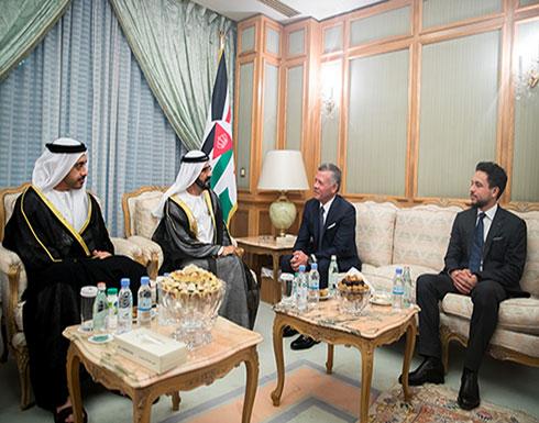 الملك يلتقي نائب رئيس دولة الإمارات العربية المتحدة