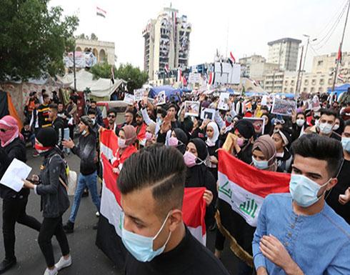 شاهد  : احتجاجات متواصلة بالعراق