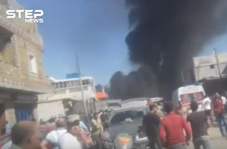 شاهد .. تفجير سيارة مفخخة في مدينة أعزاز شمالي حلب