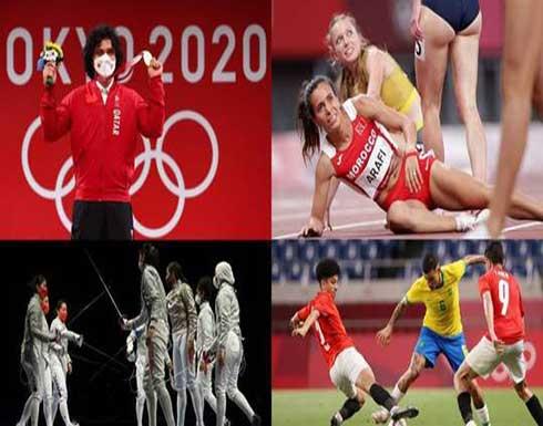 حصيلة العرب في ثامن أيام أولمبياد 2020.. قطر تدخل التاريخ