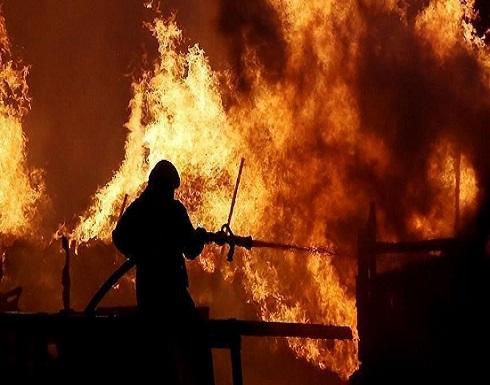 """إيران..حريق """"غامض"""" بمنطقة صناعية قرب العاصمة طهران"""