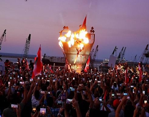 """شاهد : مواجهات بمظاهرات لبنانية أحيت ذكرى """"ثورة 17 أكتوبر"""""""