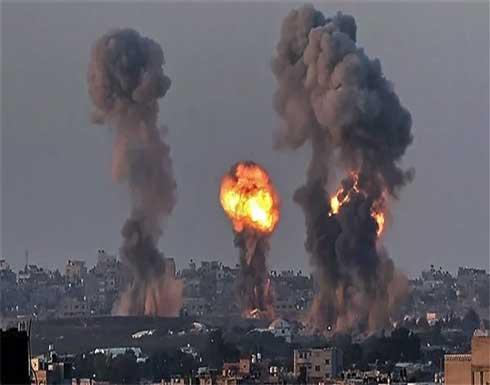 شاهد : طائرات إسرائيلية تقصف قطاع غزة