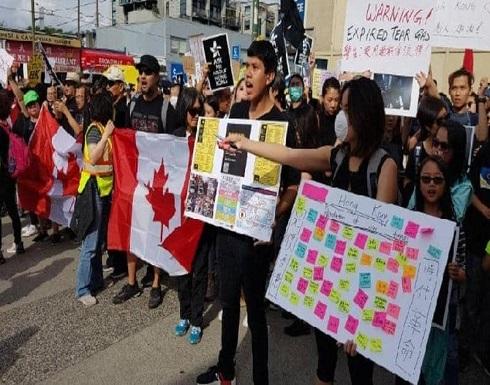 """تظاهرات """"هونغ كونغ"""" تنتقل إلى المدن الكندية"""
