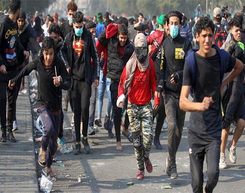 """شاهد : تجدد الاحتجاجات في الناصرية و""""الحشد"""" ينفي صلته باغتيال ناشطين"""